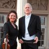 Solistin Ervis Gega-Dodi mit Prof. Heribert Beissel, dem Dirigenten der Klassischen Philharmonie Bonn.