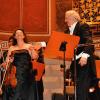 Die Solistin und ihr Dirigent - ein perfektes Team
