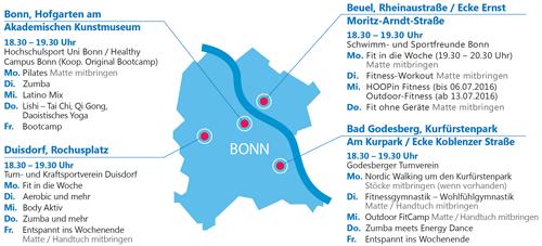 Bewegungsangebote in Bonn
