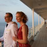 Kreuzfahrtdirektor der MS EUROPA 2, David Wilms ist das Kommu-nikationsgenie an Bord. Er sorgt dafür, dass das Gästeprogramm wie am Schnürchen läuft.