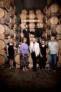 Der Donaldson-Familienbetrieb v.l.: Di, Chris, Matt, Ivan, Ed, Belinda und Paul