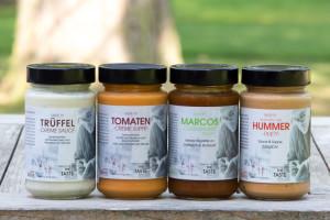 Taste it! Unter dem Label gibt es im Frischeparadies vier Köstlichkeiten im Glas, kreiert von Marco Zingone