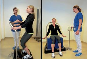 Beckenbodenzentrum Stuttgart: Nach physiotherapeutischer Anleitung kann auch das Galileo-oder Vibrafit-Gerät zur Unterstützung der Therapie eingesetzt werden.