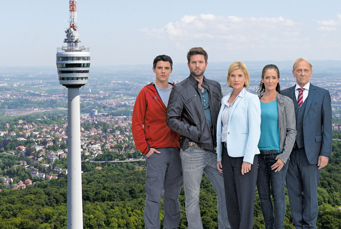 "Das ""SOKO""-Team (v.li.): Benjamin Strecker, Peter Ketnath, Astrid M. Fünderich, Yve Burbach und Karl Kranzkowski"