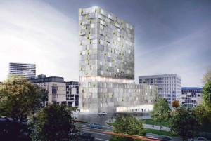 Auf dem Mailänder Platz im Europaviertel soll bis 2020 ein weiterer Turm entstehen. Als Nutzungen befindet sich in den unteren Etagen ein Hotel, in den oberen Stockwerken ein Boardinghaus sowie untergeordnet Einzelhandel und Gastronomie.