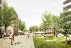Auf dem früheren Gelände des Bürgerhospitals sind rund 600 Wohnungen und ein Park geplant.