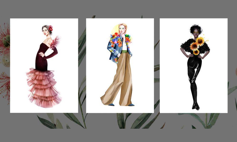"""Designer lassen die Mode blühen: Inspiration und Illustration im Bildband """"Flora Fashion"""""""